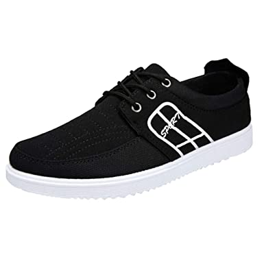 ef5b93e7232168 Men s Canvas Sneakers - Summer Casual Low Top Lace Up Shoes Lightweight  Vintage Outdoor Hiking Shoe