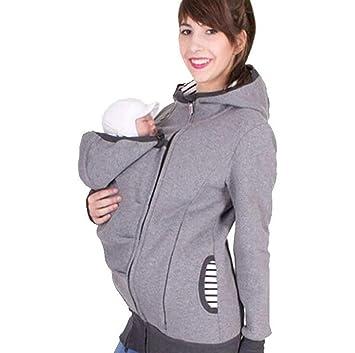 Mujer Chaqueta del Portador De Bebé Abrigo Maternidad Desgastar Otoño Invierno Canguro Honda del Bebé,S: Amazon.es: Hogar