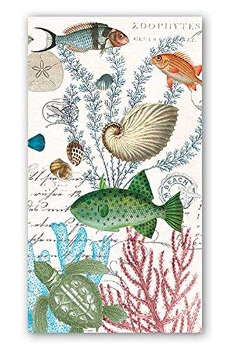 Michel Design Works 15-Count 3-Ply Paper Hostess Napkins, Sea Life