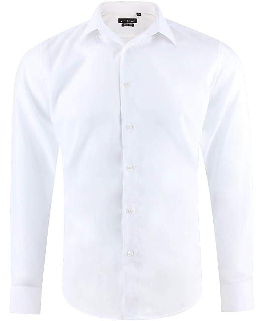 32c96620d Enzo Camisa Slim fit para Hombre con Manga Larga  Amazon.es  Ropa y  accesorios