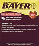 Bayer Aspirin Individual Sealed 2 Tablets in a Packet (Pack of 50 Packets) 100 Tablets Total-325mg