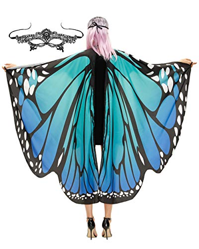 Last Minute Simple Halloween Costumes For Adults (Butterfly Wings Costume Adult Halloween Butterfly Cape Costume Women)