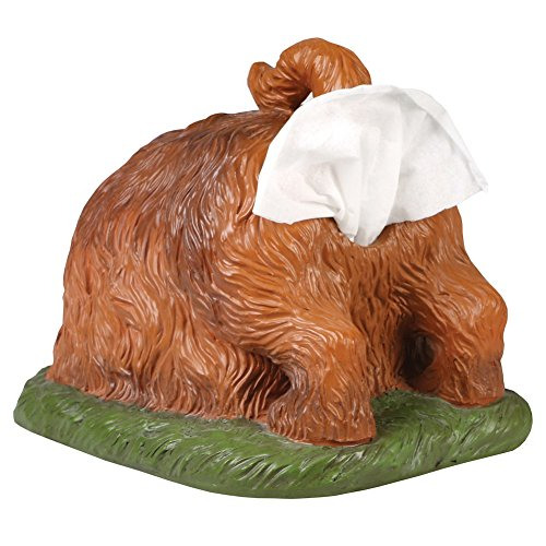 WHAT ON EARTH Digging Dog Butt Tissue Holder - Funny Square Shaped Tissue Box Cover ()