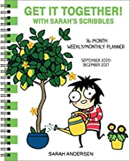 Sarah's Scribbles 16-Month 2020-2021 Weekly/Monthly Planner Calendar: Get It Toget