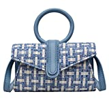 SUNyongsh Women's Fashion Woven Bag Woven Waist Bag Woven Shoulder Bag Messenger Bag