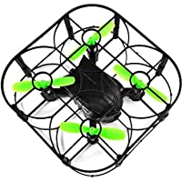 Leewa@ Mini 2.4GHz 6 Axis Gyro RC Quadcopter Air Press Altitude Hold RTF FPV Drone with One Key Takeoff,Landing,Return/Headless Mode (Without Camera) -Black