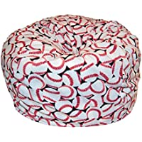 Ahh! Products Baseball Anti-Pill Fleece Washable Large Bean Bag Chair