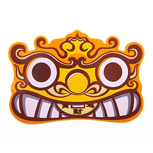 WARDVANGURD anti-slip pad,sticky pad,non-slip pad:Chinese traditional pixiu mascot figure (noctilucent - Mascot Pad Desk