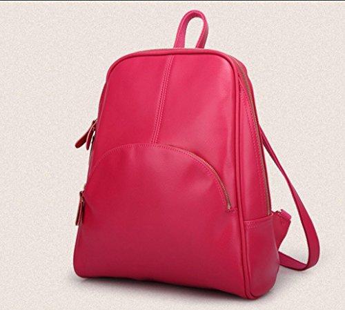 voyage forfait main rose Sacs tendance rouge noir à de sac bleu en dos à de femme sac FEN Pink Khaki bandoulière sauvage loisirs de coréenne cuir à la kaki a4xwRBEq