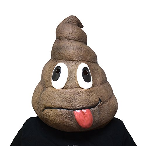 Halloween Costumes Without Mask (Amazlab Emoji Poo Mask for Halloween Costume Party Decorations, Halloween Props, Halloween Supplies)