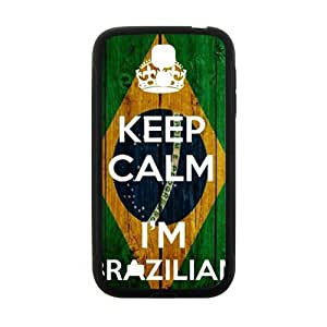 keep calm i'm brazilian Phone Case for Samsung Galaxy S4 Case