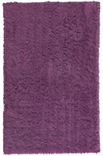 Faux Sheepskin Area Rug, 2'X3', Purple (2x3 Purple Rug)