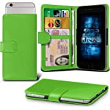 BLU Studio C 5 + 5 / Studio C 5 + 5 LTE Adjustable Spring Wallet ID Card Holder Case Cover (Green) Plus Free Gift, Screen Protector and a Stylus Pen, Order Now Best Valued Phone Case on Amazon! By FinestPhoneCases