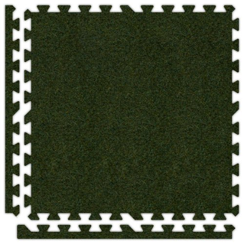Alessco SCGG2020 Premium Softcarpets Tile Set, 20' x 20', Grass Green