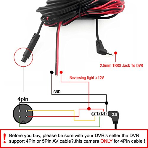Backup Camera Wiring Diagram 4 Pin | Wiring Schematic ... on