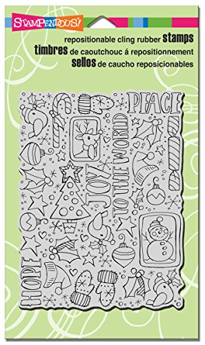 STAMPENDOUS Cling Rubber Stamp, Festive Background  ()
