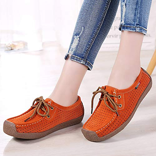 Suede Heel amp; Spring Shoes Red ZHZNVX Red Women's Coffee Blue Sneakers Comfort Summer Moccasin Flat ERCqW4