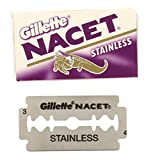 50 NACET STAINLESS Double Edge Razor Blades