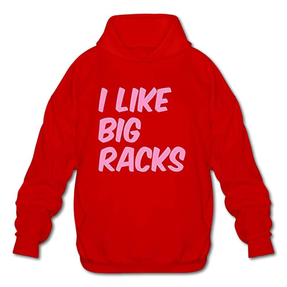 Haoshouru Mens Long Sleeve Cotton Hoodie I Like Big Racks Sweatshirt