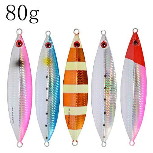 Nafanio 10pcs/ lot Lure Metal Jig 30g 40g 60g 80g 100g 130g Fish Bass Baits