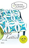 Metro Lattice Quilt Pattern: A Contemporary Quilt Design Pattern Using the Quick Curve Ruler By Sew Kind of Wonderful