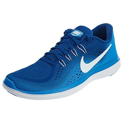Sneakers Basketball Athletic - Nike Flex 2017 RN Men | Gym Blue/White/Photo Blue (898457001) (9.5-Men)