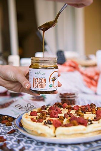 4 Pack Yacon Syrup - USDA Certified Organic Natural Sweetener - All-Natural Sugar Substitute - 8 Oz. SafeGlass Jar - Keto Vegan & Gluten Free by Alovitox (Image #6)