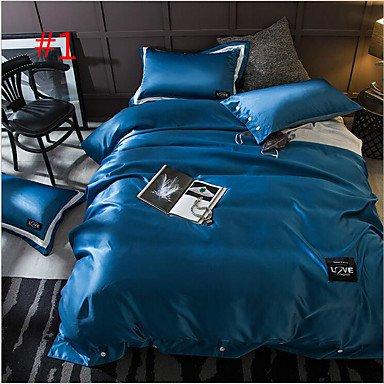 WYFC Massiv 4 Stück Baumwolle Kleidung Maschinell gefertigt Baumwolle Kleidung 2 Stk. Kissenbezüge 1 Stk. Kissenbezug 1 Stk. Betttuch . king