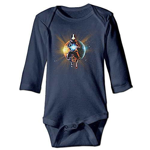 YTRY Avatar The Last Airbender Babys Long Sleeve Bodysuit Outfits Navy Size 24 Months