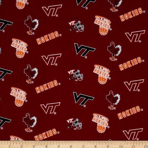 Tech Cotton Fabric (Collegiate Cotton Broadcloth Virginia Tech Fabric By The Yard)