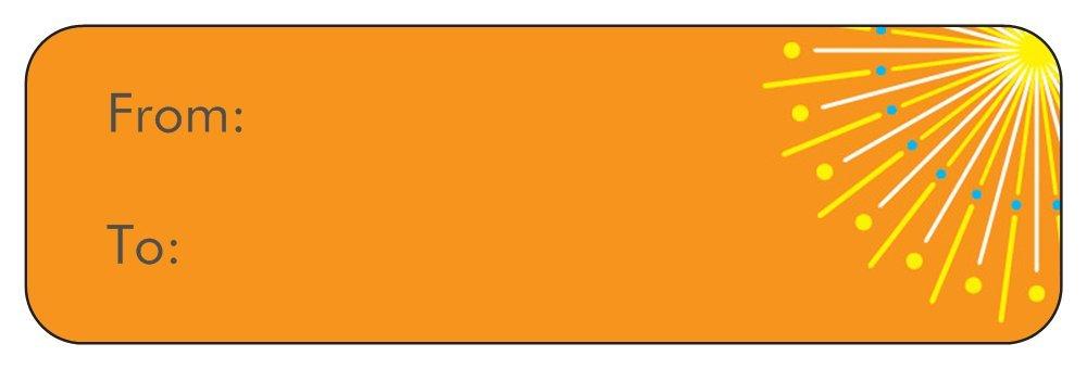 Amazon com: Vistaprint To From Labels: Orange Diwali Stickers