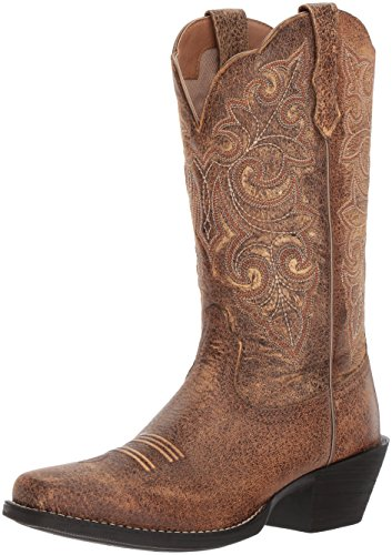 (Ariat Women's Round up Square Toe Work Boot, Vintage Bomber, 7 B US)