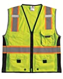 ML Kishigo 1513 Ultra-Cool Polyester Black Series Heavy Duty Vest, Medium, Lime