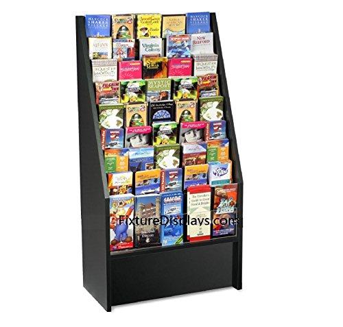 Fixture Displays Literature Rack Brochure holder leaflet coupon stand 1453Black by FixtureDisplays