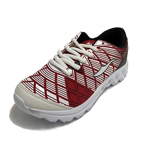 Softee Equipment Rainbow, Zapatillas de Deporte Unisex Adulto Varios colores (Rojo / Blanco)