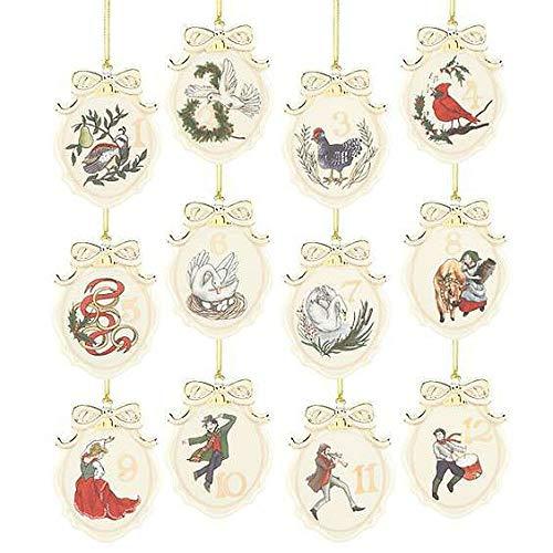 Lenox Twelve Days of Christmas 12-Piece Ornament Set