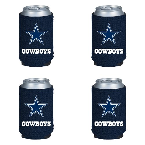 Kolder Dallas Cowboys Cooler - NFL Dallas Cowboys Can Koozie 4 pack