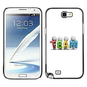 YiPhone /// Prima de resorte delgada de la cubierta del caso de Shell Armor - TEAM - Samsung Galaxy Note 2 N7100