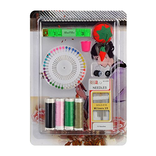 - eZthings Straight Pins Accessories Replenishment Kit For Arts and Crafts (Sewing Set)