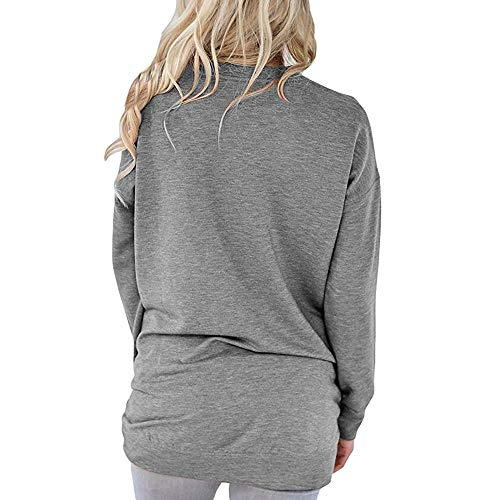 Gris Body Col Xmiral Chemisier Rond Pois Longues Chemise Femme Manches FWWTnqz54I