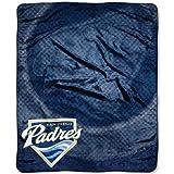 San Diego Padres MLB Royal Plush Raschel Blanket (Retro Series) (50in x 60in)