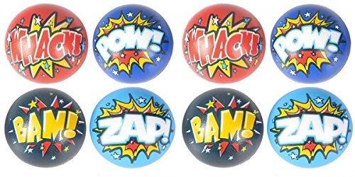 Superhero Stress Balls Bulk pack (50 Pack) Stress Relax Toy Balls, Ball Assortment -