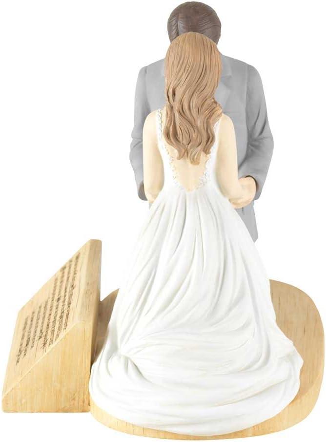 Hear Our Prayer Kneeling Bride & Groom 5 x 5.5 Resin Stone Tabletop Figurine