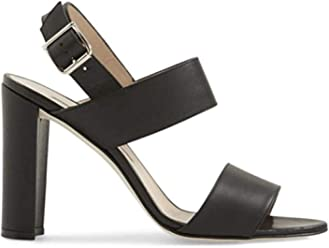 Manolo Blahnik Black Leather Khan Sandals