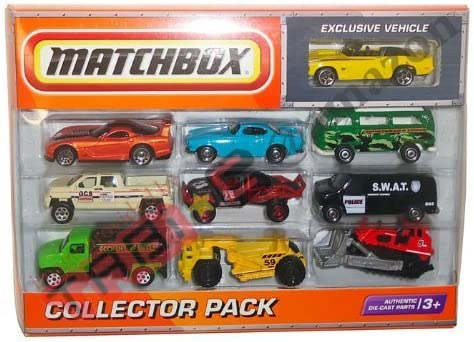 2010 Matchbox Collector 10 Pack with Exclusive 1969 CAMARO SS-396 Convertible (Yellow) by Mattel: Amazon.es: Juguetes y juegos
