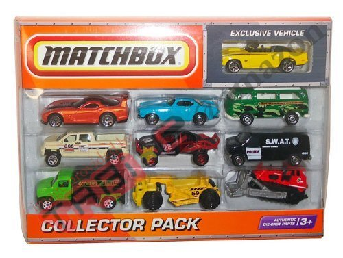 2010 Matchbox Collector 10 Pack with Exclusive 1969 CAMARO SS-396 Convertible (Yellow) (1969 Camaro Diecast compare prices)