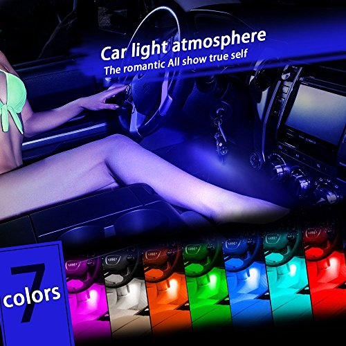 UPC 759803735007, Thunder 12V 43 LED Car Interior Decorative Atmosphere Neon Light Lamp - Best in Automotive Interior Accessories - Auto Car Floor Lights with Glowing Blue Bright Light for All Vehicles
