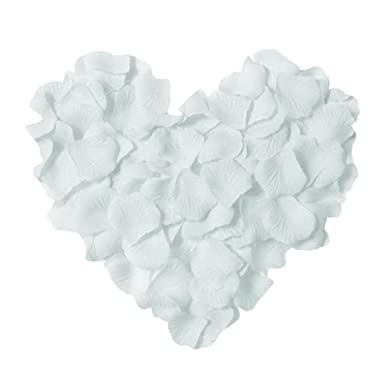 Neo LOONS 1000 Pcs Artificial Silk Rose Petals Decoration Wedding Party Color White