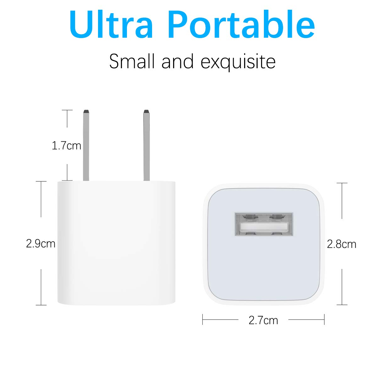 iPhone Charger MFi Certified 2-Pack Charging Cable and USB Wall Adapter Plug Block Compatible iPhone X//8//8 Plus//7//7 Plus//6//6S//6 Plus//5S//SE//Mini//Air//Pro