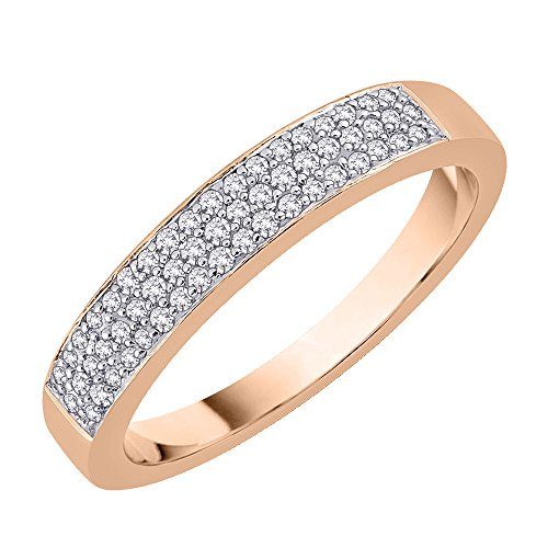 Diamond Wedding Band in 10K Rose Gold (1/5 cttw) (GH-Color, I2/I3-Clarity) (Size-11.5)